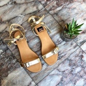 Nordstrom BC Footwear New Gold Sandals